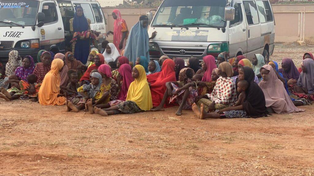 Rescued kidnapped victims in Zamfara
